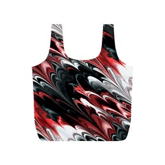 Fractal Marbled 8 Full Print Recycle Bags (s)