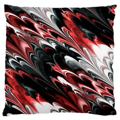 Fractal Marbled 8 Large Flano Cushion Cases (One Side)