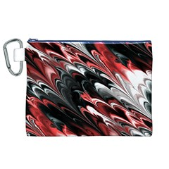 Fractal Marbled 8 Canvas Cosmetic Bag (XL)