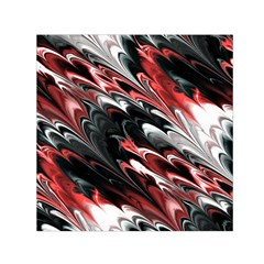Fractal Marbled 8 Small Satin Scarf (Square)