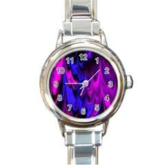 Fractal Marbled 13 Round Italian Charm Watches