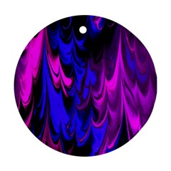 Fractal Marbled 13 Round Ornament (two Sides)