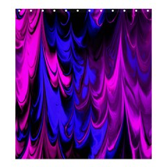 Fractal Marbled 13 Shower Curtain 66  x 72  (Large)