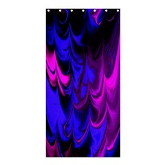 Fractal Marbled 13 Shower Curtain 36  x 72  (Stall)