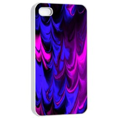 Fractal Marbled 13 Apple iPhone 4/4s Seamless Case (White)