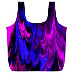 Fractal Marbled 13 Full Print Recycle Bags (l)