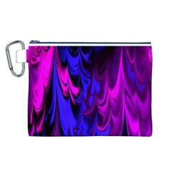 Fractal Marbled 13 Canvas Cosmetic Bag (L)