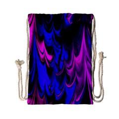 Fractal Marbled 13 Drawstring Bag (small)
