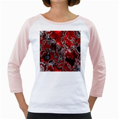 Fractal Marbled 07 Girly Raglans