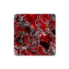 Fractal Marbled 07 Square Magnet