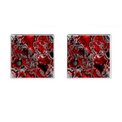 Fractal Marbled 07 Cufflinks (square)