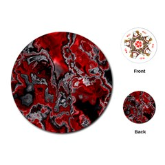 Fractal Marbled 07 Playing Cards (round)