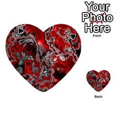Fractal Marbled 07 Playing Cards 54 (heart)