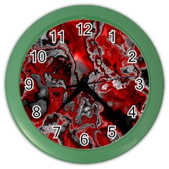 Fractal Marbled 07 Color Wall Clocks