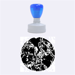 Fractal Marbled 07 Rubber Round Stamps (medium)