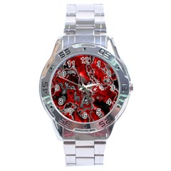 Fractal Marbled 07 Stainless Steel Men s Watch