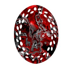 Fractal Marbled 07 Ornament (oval Filigree)