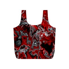 Fractal Marbled 07 Full Print Recycle Bags (s)