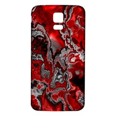 Fractal Marbled 07 Samsung Galaxy S5 Back Case (white)