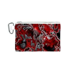 Fractal Marbled 07 Canvas Cosmetic Bag (S)