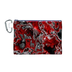 Fractal Marbled 07 Canvas Cosmetic Bag (m)