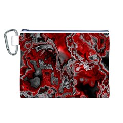 Fractal Marbled 07 Canvas Cosmetic Bag (L)
