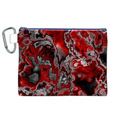 Fractal Marbled 07 Canvas Cosmetic Bag (XL)