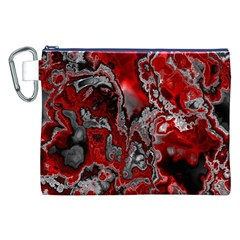 Fractal Marbled 07 Canvas Cosmetic Bag (XXL)