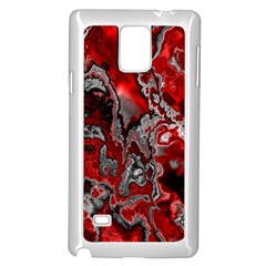 Fractal Marbled 07 Samsung Galaxy Note 4 Case (White)
