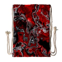 Fractal Marbled 07 Drawstring Bag (Large)