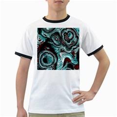 Fractal Marbled 05 Ringer T Shirts