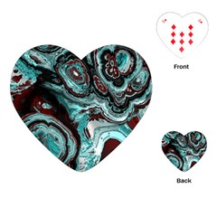 Fractal Marbled 05 Playing Cards (Heart)