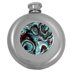 Fractal Marbled 05 Round Hip Flask (5 Oz)