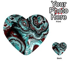 Fractal Marbled 05 Playing Cards 54 (heart)