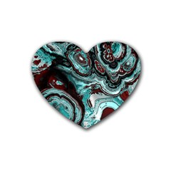 Fractal Marbled 05 Heart Coaster (4 Pack)