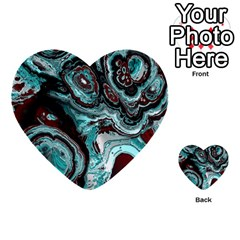 Fractal Marbled 05 Multi Purpose Cards (heart)