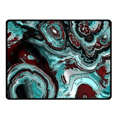 Fractal Marbled 05 Fleece Blanket (small)