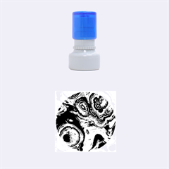 Fractal Marbled 05 Rubber Round Stamps (small)