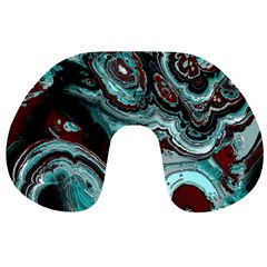 Fractal Marbled 05 Travel Neck Pillows