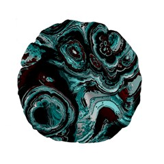 Fractal Marbled 05 Standard 15  Premium Flano Round Cushions