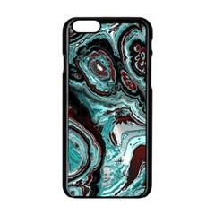 Fractal Marbled 05 Apple Iphone 6 Black Enamel Case