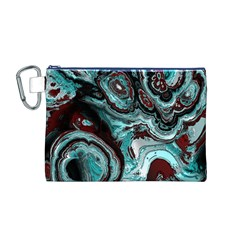Fractal Marbled 05 Canvas Cosmetic Bag (M)