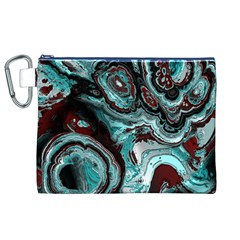 Fractal Marbled 05 Canvas Cosmetic Bag (XL)