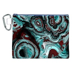 Fractal Marbled 05 Canvas Cosmetic Bag (XXL)