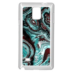 Fractal Marbled 05 Samsung Galaxy Note 4 Case (White)