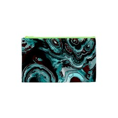 Fractal Marbled 05 Cosmetic Bag (XS)