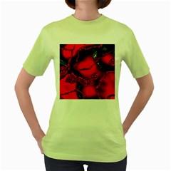 Abstract Art 11 Women s Green T-Shirt