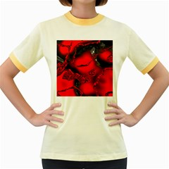 Abstract Art 11 Women s Fitted Ringer T-Shirts