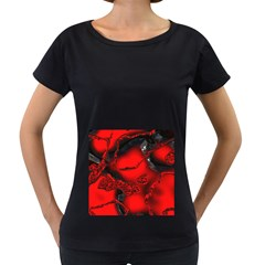 Abstract Art 11 Women s Loose-Fit T-Shirt (Black)