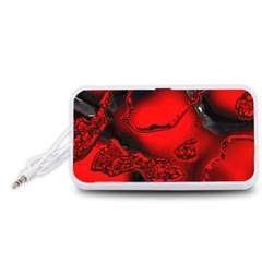 Abstract Art 11 Portable Speaker (white)